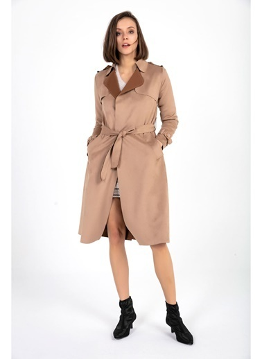 Tiffany&Tomato Trenchcoat Apoletli Kahve